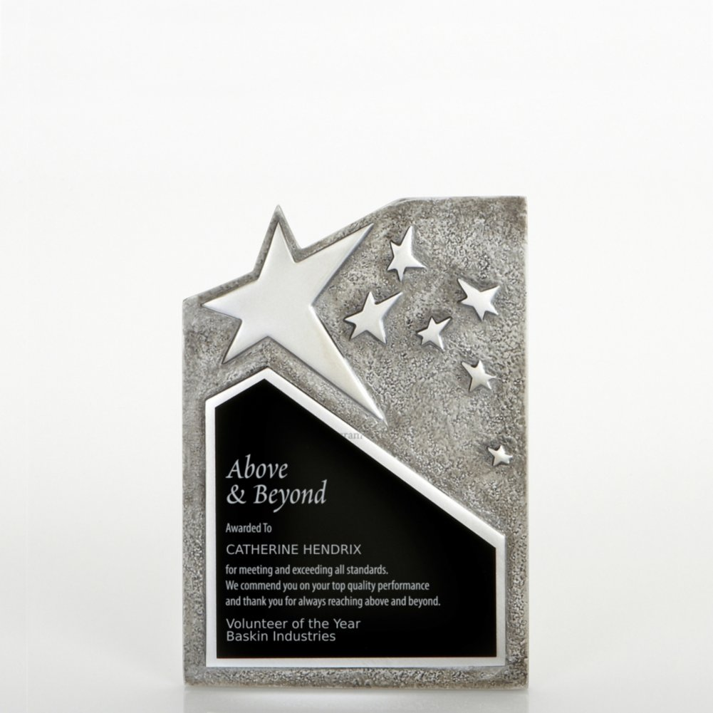 View larger image of Resin Star Plaque - Silver - Small